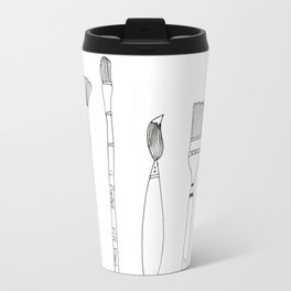Paint Brush Illustration  Travel Mug