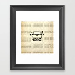 All work and no play II Framed Art Print
