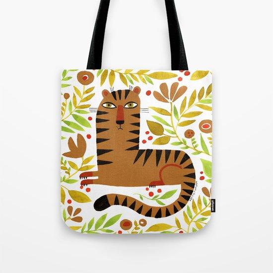LEAFY TIGER Tote Bag