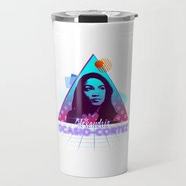 Alexandria Ocasio-Cortez #AOC Blue Wave Travel Mug