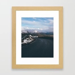 road to snow Framed Art Print