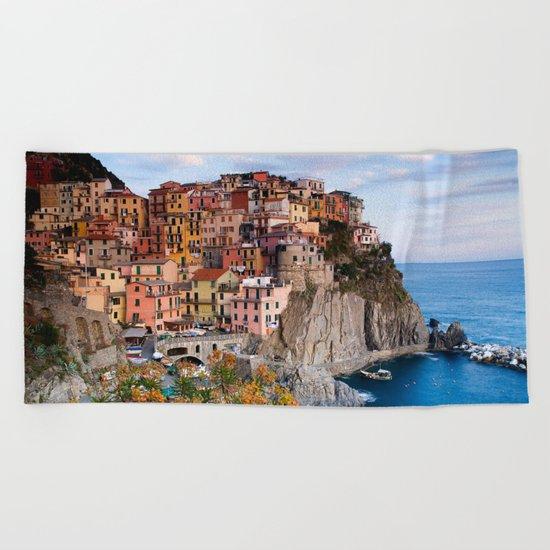 Italy Village Beach Towel