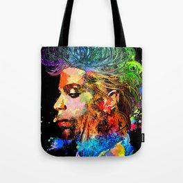 Prince Profile Grunge Tote Bag