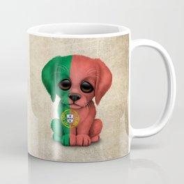 Cute Puppy Dog with flag of Portugal Coffee Mug