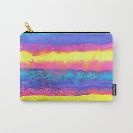 Rainbow Eruption Watercolor design Carry-All Pouch