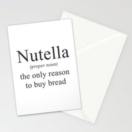 NUTELLA - CHOCOLATE - DEFINITION - FUNNY Stationery Cards