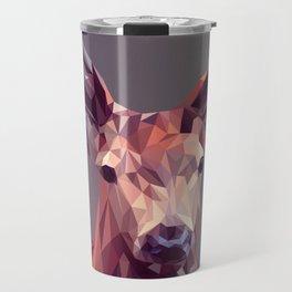 Abstract geometric deer art Travel Mug
