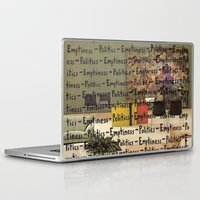 politics Laptop & iPad Skins featuring Politics Emptiness by Neil Campau