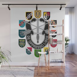 De Oppresso Liber Army Special Forces Group Beret Flashes Wall Mural