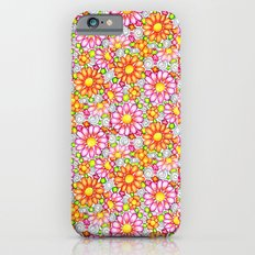 Summer Daisies Tiled Pattern iPhone 6s Slim Case