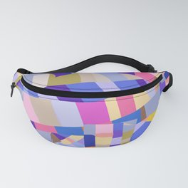 Abstract shapes in purples Fanny Pack