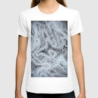 monet T-shirts featuring Monet Style Blue abstract by David Pyatt