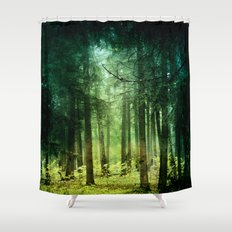 Enchanted light Shower Curtain