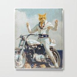 """Evel """"Cat""""ievel Metal Print"""