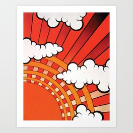 Red Ray Art Print