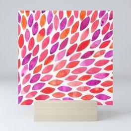 Watercolor brush strokes burst - pink and purple Mini Art Print