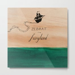 Zebrat in Fairyland - Album Art Metal Print