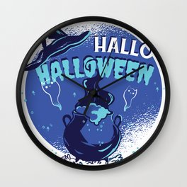 Hello Halloween Wall Clock