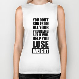 Lab No. 4 - It will help you lose weight Gym Workout Quotes Poster Biker Tank
