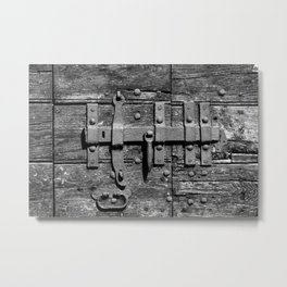 Ancient door latch Metal Print