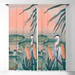 Blue Heron Blackout Curtain