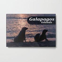 Galapagos Island Poster Metal Print