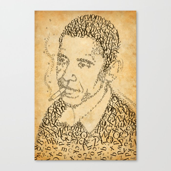barac obama in the font of times Canvas Print