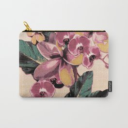 Tropical Vintage Plumerias 2 Carry-All Pouch