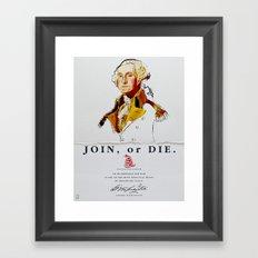 George Washington, Revolution, Join Or die Framed Art Print