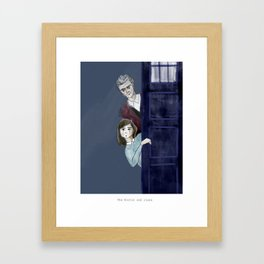 The Doctor and Clara Framed Art Print