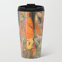 god mom durga killed evil Travel Mug