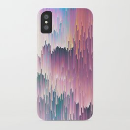 Rainbow Glitches iPhone Case