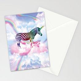 Rainbow Zebra Unicorn Stationery Cards