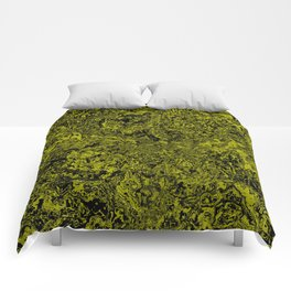 Green and Black Marble #sellart #society6 Comforters