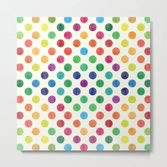 Lovely Dots Pattern III Metal Print