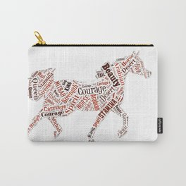 Arabian Horse Words Carry-All Pouch