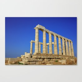 Temple of Poseidon in Sounion near Athens (Greece) Canvas Print