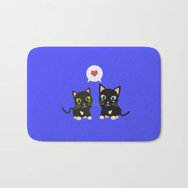 Cats in Love Bath Mat