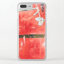 Etched Scratchings of a Mad Red Monk Clear iPhone Case