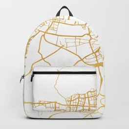TEHRAN IRAN CITY STREET MAP ART Backpack