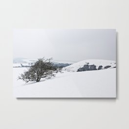 Chilterns in Winter Metal Print
