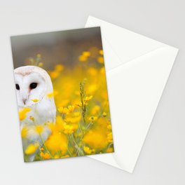 Little Owlet in Flowers (Color) Stationery Cards