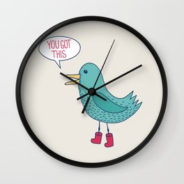 Emotional Support Duck Wall Clock