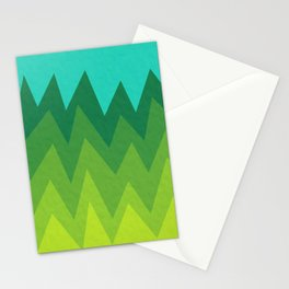 Green Summer Forest Stationery Cards