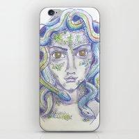 medusa iPhone & iPod Skins featuring MEDUSA by Pumpkinstrudel Studio