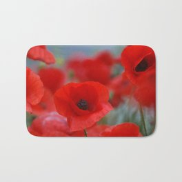 poppy addiction Bath Mat