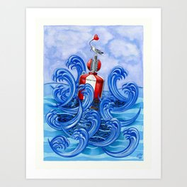 Hold on to the Buoy of Love Art Print