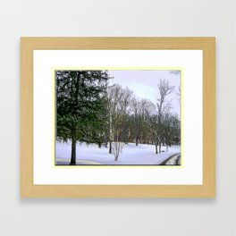 Winter Scape in Purplish Hues Framed Art Print