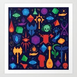 TTRPG Forever - Color Art Print