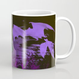 Eerie Halloween Graveyard, Grinning Skulls and Swooping Bats Coffee Mug
